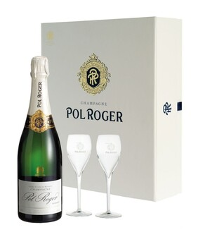 Pol Roger Gift Box & 2 Glasses 750ml