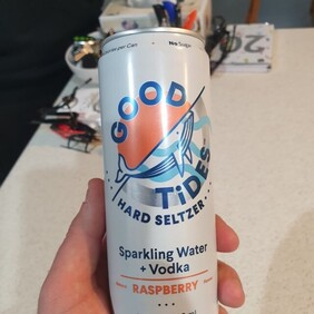 Good Tides Hard Seltzer Raspberry 10 Pk Cans