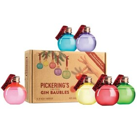 PICKERINGS GIN BAUBLE PACK 6X50ML