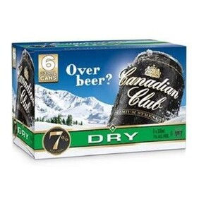 Canadian Club 7% 6pk Cans