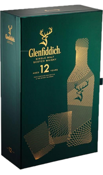 Glenfiddich Single Malt 12YO 700ml Giftpack with 2 glasses