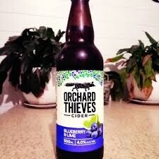 Orchard Thieves Blue Berry Lime  Cider 500 ML  Btls