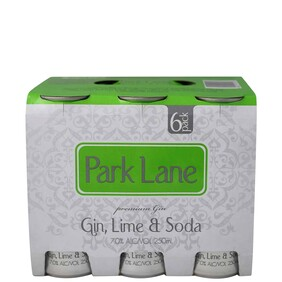 Park Lane Lime 6pk Cans