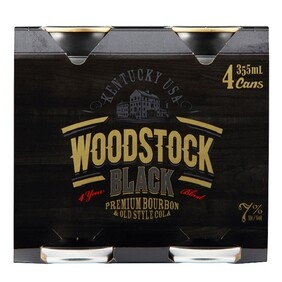 Woodstock Black 4pk Cans