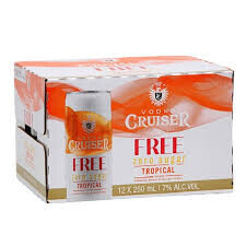 CRUISER 7 %   ZERO SUGAR TROPICAL  12 PK CANS