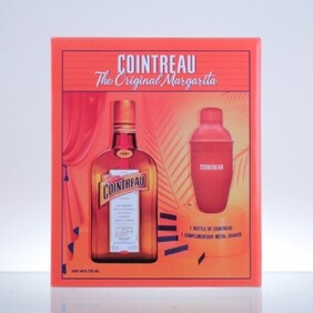 COINTREAU METAL SHAKER GIFT PACK 700ML
