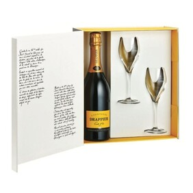 DRAPPIER - GIFT BOX WITH 2 CHAMPAGNE GLASSES